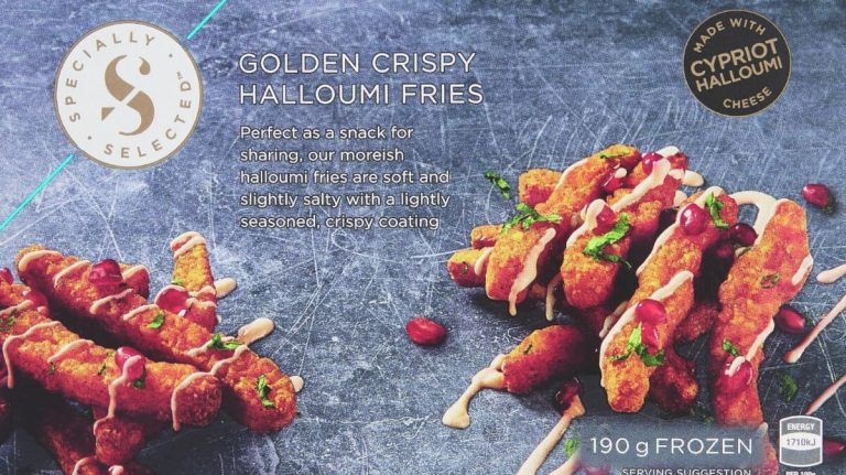 Golden crispy halloumi fries