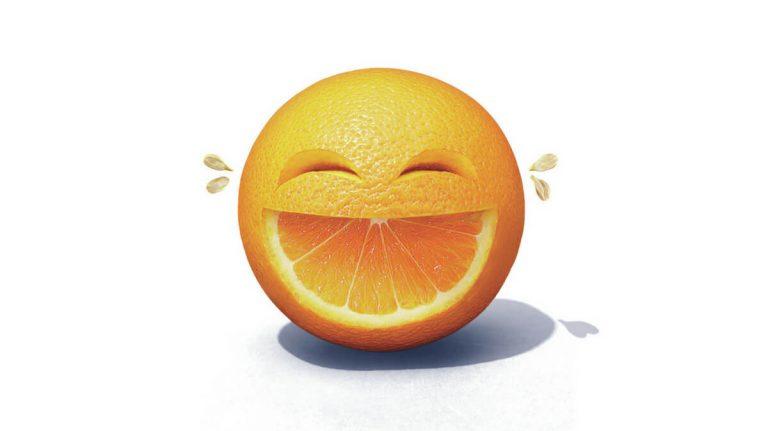 laughing orange
