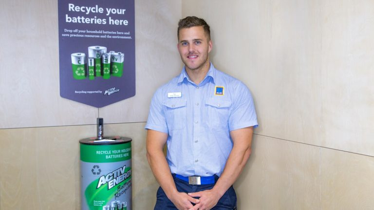 recycle of batteries in aldi