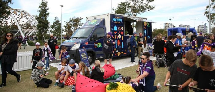 Aldi healthy eating with new food truck