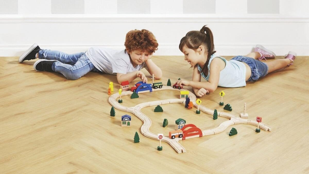 Wooden Train Set 70 piece