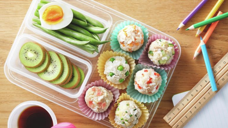 lunch box with different vegetables and fruits