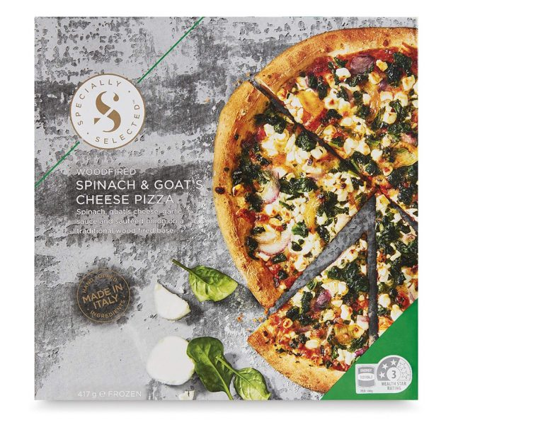 Spinach & goats cheese pizza