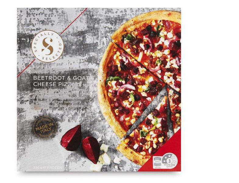 Beetroot & goat cheese pizza