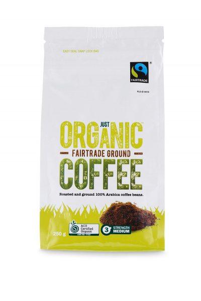 Just organic fairtrade ground coffee