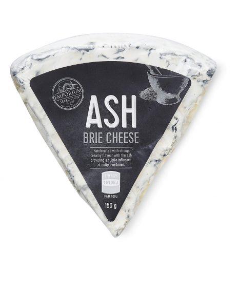 Ash brie cheese