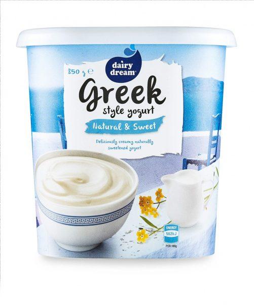 Greek yogurt natural and sweet