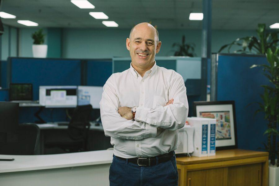 A man in office