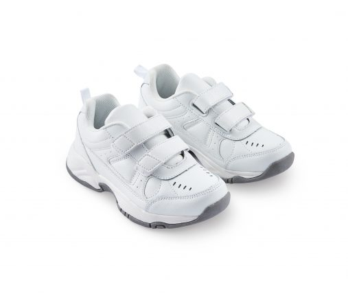 Leather Joggers For Kids - White