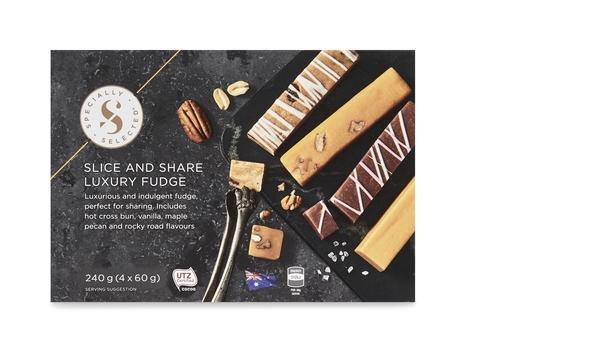 Slice and Share Luxury Fudge