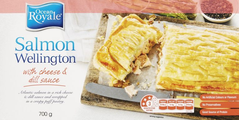 Salmon Wellington With Cheese And Dill Sauce