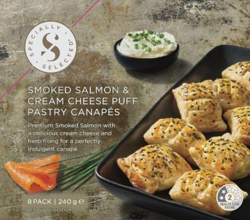 Smoked Salmon And Cream Cheese Puffs