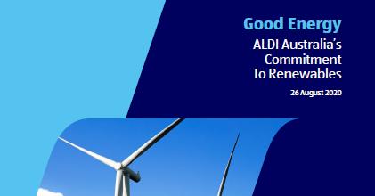 Good Energy – ALDI Australia's Commitment to Renewables