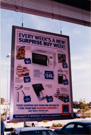 Special Buys at ALDI Bankstown Airport grand opening 2001