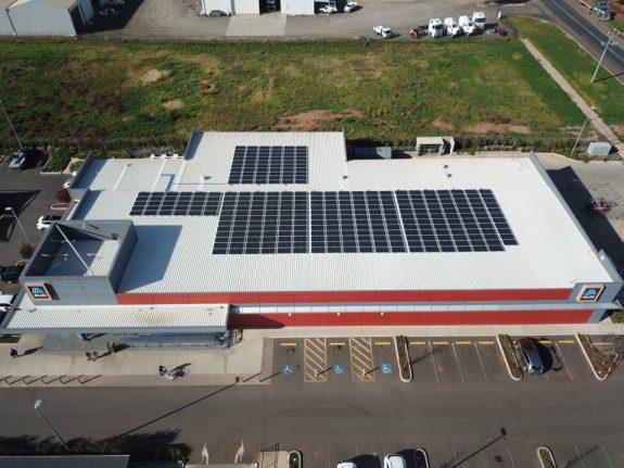 ALDI Griffith solar panels